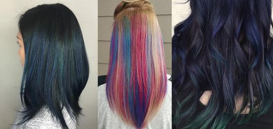 Волосы эффект перьев из волос